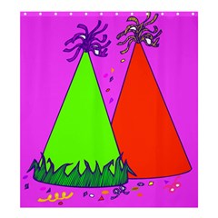 Birthday Hat Party Shower Curtain 66  X 72  (large)  by AnjaniArt
