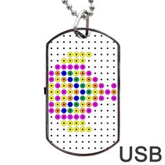 Colored Fish Dog Tag Usb Flash (one Side) by AnjaniArt