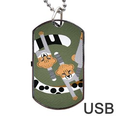 Chetah Animals Dog Tag Usb Flash (two Sides)  by AnjaniArt