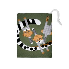 Chetah Animals Drawstring Pouches (medium)