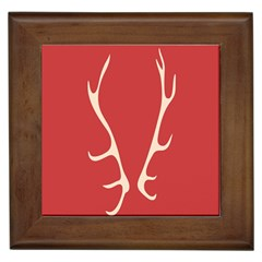Deer Antlers Framed Tiles by AnjaniArt