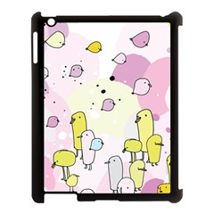 Cut Bird Apple Ipad 3/4 Case (black) by AnjaniArt