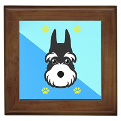 Face Dog Framed Tiles by AnjaniArt
