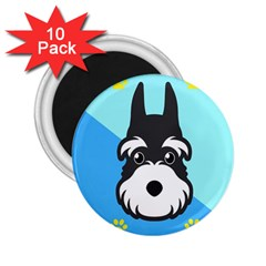 Face Dog 2 25  Magnets (10 Pack)  by AnjaniArt