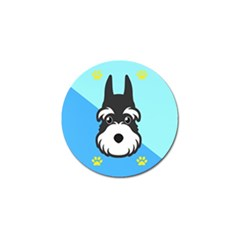 Face Dog Golf Ball Marker by AnjaniArt