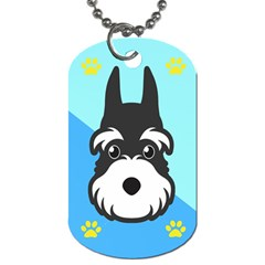 Face Dog Dog Tag (two Sides)