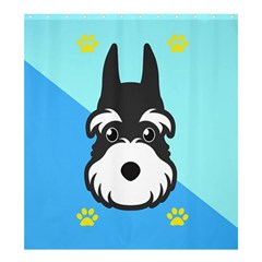 Face Dog Shower Curtain 66  X 72  (large)  by AnjaniArt