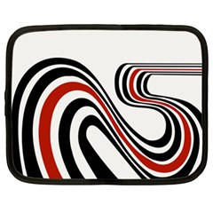 Curving, White Background Netbook Case (xxl)  by AnjaniArt