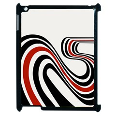 Curving, White Background Apple Ipad 2 Case (black)