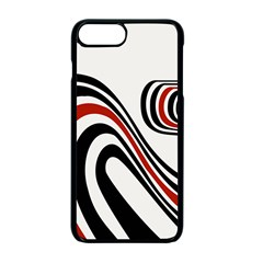 Curving, White Background Apple Iphone 7 Plus Seamless Case (black)