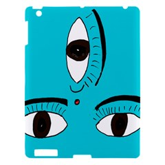 Eyes Three Blue Apple Ipad 3/4 Hardshell Case by AnjaniArt