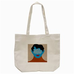 Face Eye Human Tote Bag (cream) by AnjaniArt