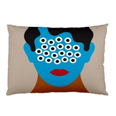 Face Eye Human Pillow Case (two Sides) by AnjaniArt