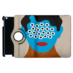 Face Eye Human Apple Ipad 3/4 Flip 360 Case by AnjaniArt
