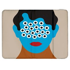 Face Eye Human Samsung Galaxy Tab 7  P1000 Flip Case