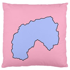 Girls Pink Large Cushion Case (two Sides)