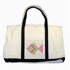 Fish Cute Two Tone Tote Bag