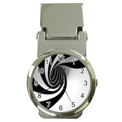 Hole Black White Money Clip Watches