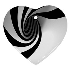 Hole Black White Heart Ornament (2 Sides) by AnjaniArt