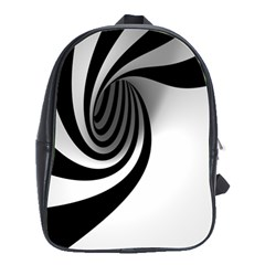Hole Black White School Bags(large)