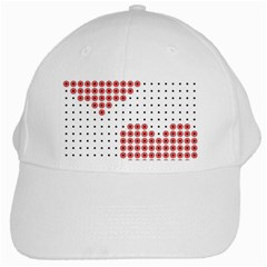 Heart Love Valentine Day Pink White Cap by AnjaniArt