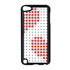 Heart Love Valentine Day Pink Apple Ipod Touch 5 Case (black) by AnjaniArt