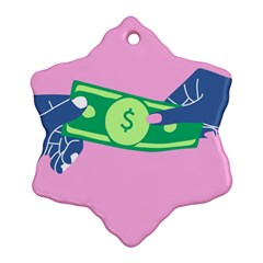 Money Ornament (snowflake)