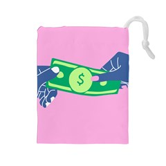 Money Drawstring Pouches (large)