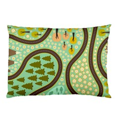 Hilly Roads Pillow Case (two Sides)