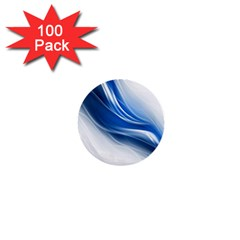 Light Waves Blue 1  Mini Buttons (100 Pack)