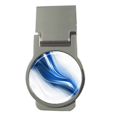 Light Waves Blue Money Clips (round)