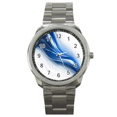 Light Waves Blue Sport Metal Watch