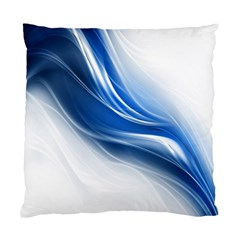 Light Waves Blue Standard Cushion Case (one Side) by AnjaniArt
