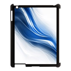 Light Waves Blue Apple Ipad 3/4 Case (black) by AnjaniArt