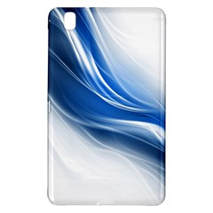 Light Waves Blue Samsung Galaxy Tab Pro 8 4 Hardshell Case by AnjaniArt