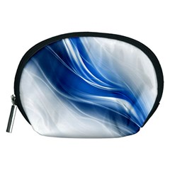 Light Waves Blue Accessory Pouches (medium)  by AnjaniArt