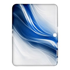 Light Waves Blue Samsung Galaxy Tab 4 (10 1 ) Hardshell Case  by AnjaniArt