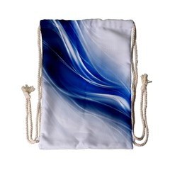 Light Waves Blue Drawstring Bag (small)