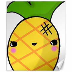 Kawaii Pineapple Canvas 8  X 10  by CuteKawaii1982