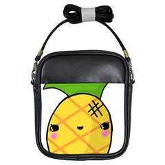 Kawaii Pineapple Girls Sling Bags by CuteKawaii1982