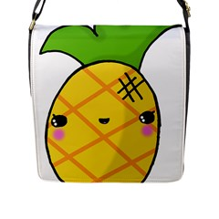 Kawaii Pineapple Flap Messenger Bag (l)  by CuteKawaii1982