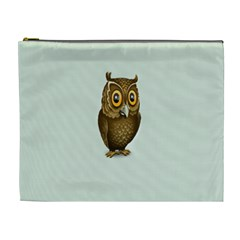 Owl Cosmetic Bag (xl) by AnjaniArt