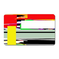 Lines And Squares  Magnet (rectangular) by Valentinaart