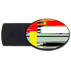 Lines And Squares  Usb Flash Drive Oval (4 Gb)