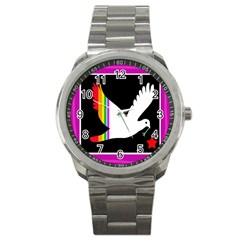 Bird Sport Metal Watch by Valentinaart