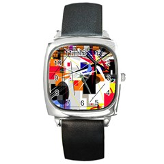 Champion Square Metal Watch by Valentinaart