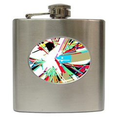 Colorful Big Bang Hip Flask (6 Oz) by Valentinaart