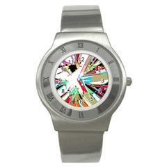 Colorful Big Bang Stainless Steel Watch