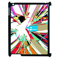 Colorful Big Bang Apple Ipad 2 Case (black) by Valentinaart