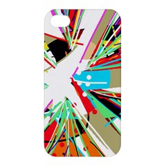 Colorful Big Bang Apple Iphone 4/4s Premium Hardshell Case by Valentinaart